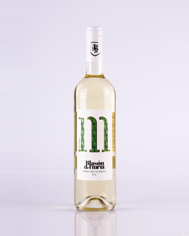 """Botella de vino Blasón del Turra """"Macabeo"""""""
