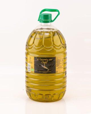 """""""El Secreto del Chef"""" Garrafa de Aceite de Oliva Virgen Extra Ecologico (5L.)"""