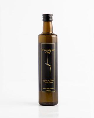 """""""El Secreto del Chef"""" botella de Aceite de Oliva Virgen Extra (500ml.)"""