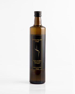 """""""El Secreto del Chef"""" botella de Aceite de Oliva Virgen Extra Ecológico (750ml.)"""