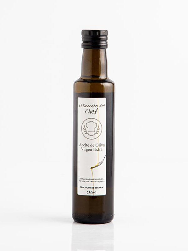 """""""El Secreto del Chef"""" botella de Aceite de Oliva Virgen Extra (250ml.)"""
