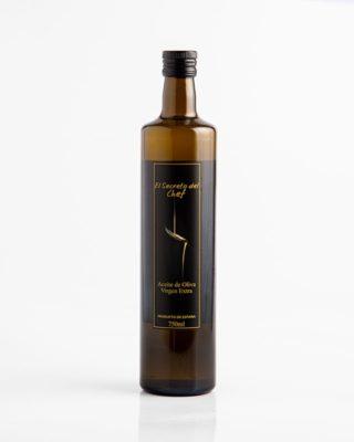 """""""El Secreto del Chef"""" botella de Aceite de Oliva Virgen Extra (750ml.)"""